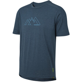 IXS Flow Tech MNT Graphic Kurzarm T-Shirt Kinder marine